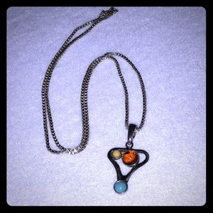 """Jewelry - Multi Gem Necklace on 24"""" chain"""